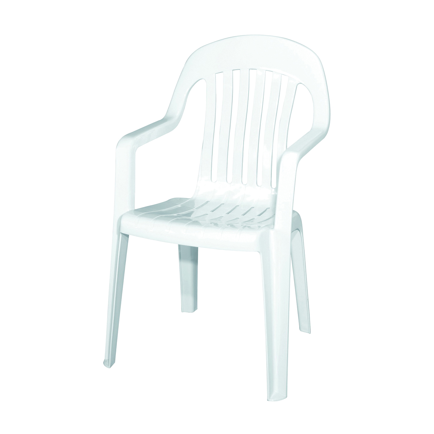 Picture of Adams 8254-48-3700 High Back Chair, 22 in W, 23 in D, 36 in H, 250 lb Capacity, Polypropylene Frame, White Frame