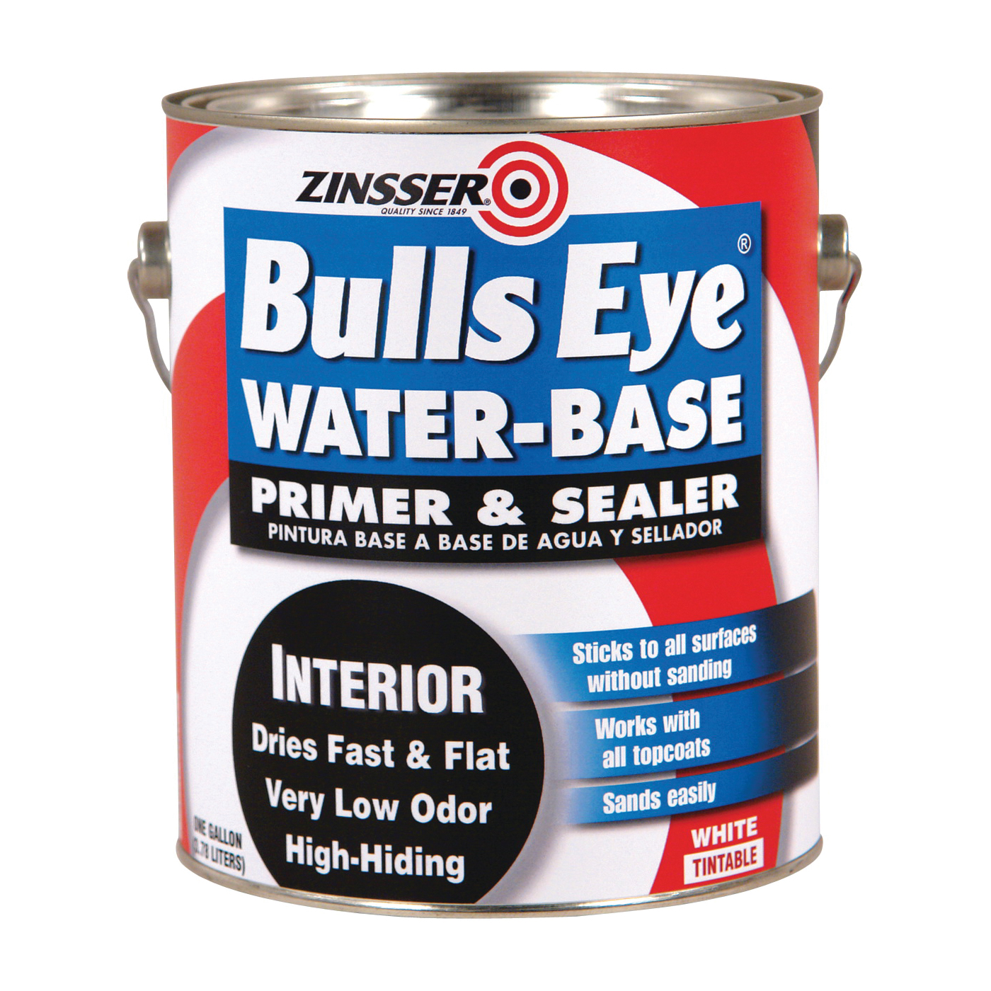 Picture of ZINSSER 2241 Primer and Sealer, Flat, White, 1 gal, Can