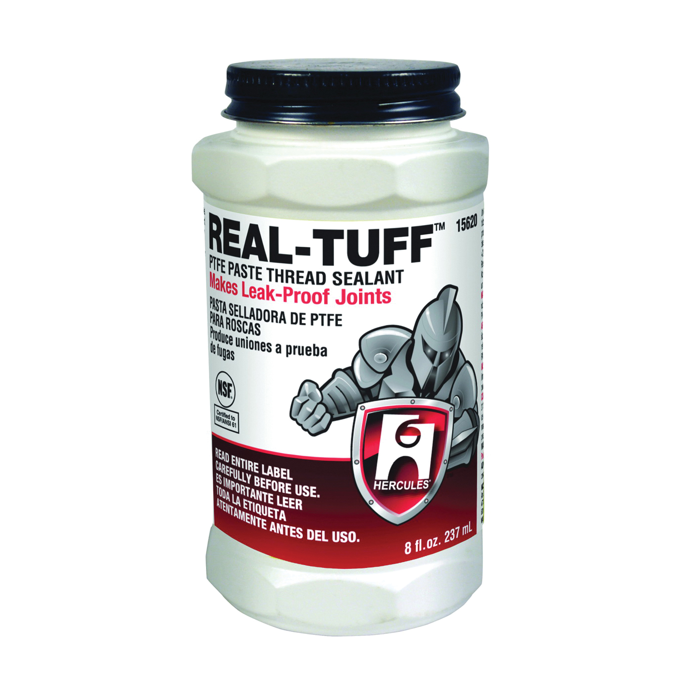 Picture of Oatey REAL TUFF 15620 Thread Sealant, 8 oz, Can, Paste, White
