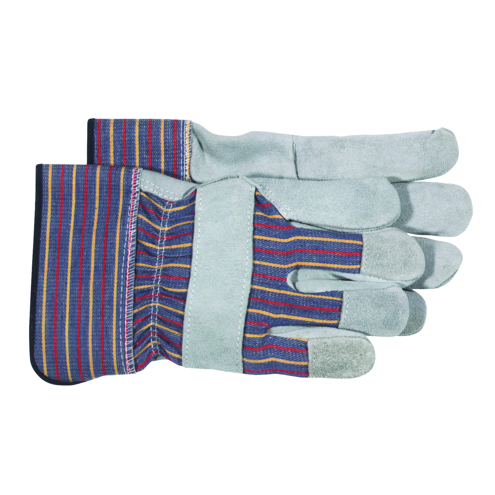 Picture of BOSS 4094 Welder Gloves, Men's, L, Wing Thumb, Rubberized Safety Cuff, Blue/Gray