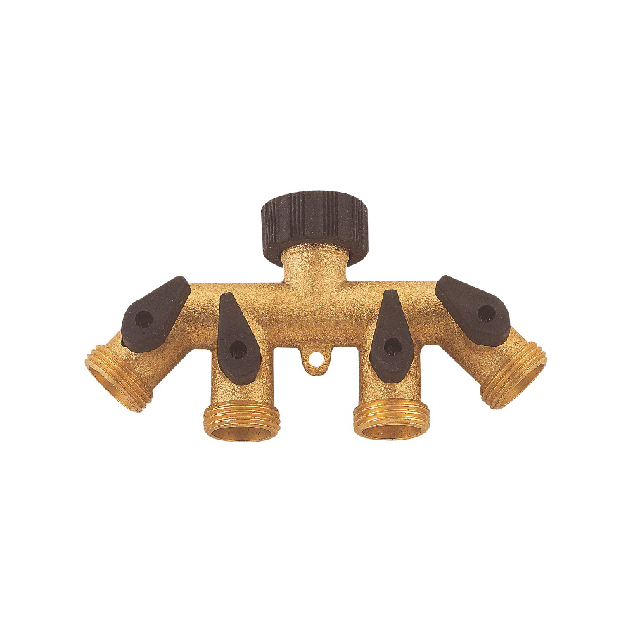 Picture of Landscapers Select GB9114A Faucet Manifold, 3/4 in Connection, Female, 4 -Port/Way, Brass