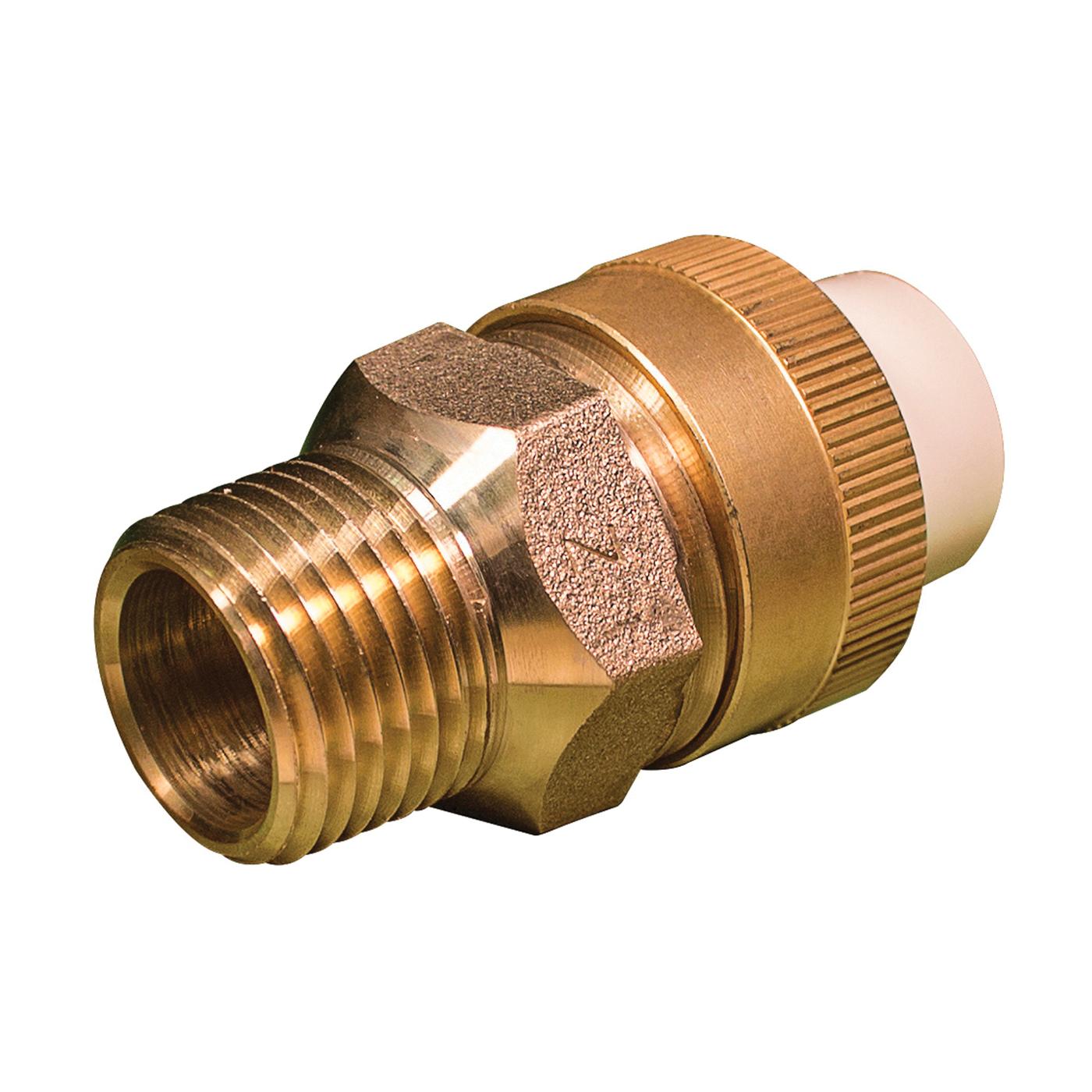 Picture of GENOVA 53374Z/TUM-0500 Transition Union, 1/2 in, Slip Joint x MIP, 100 psi Pressure