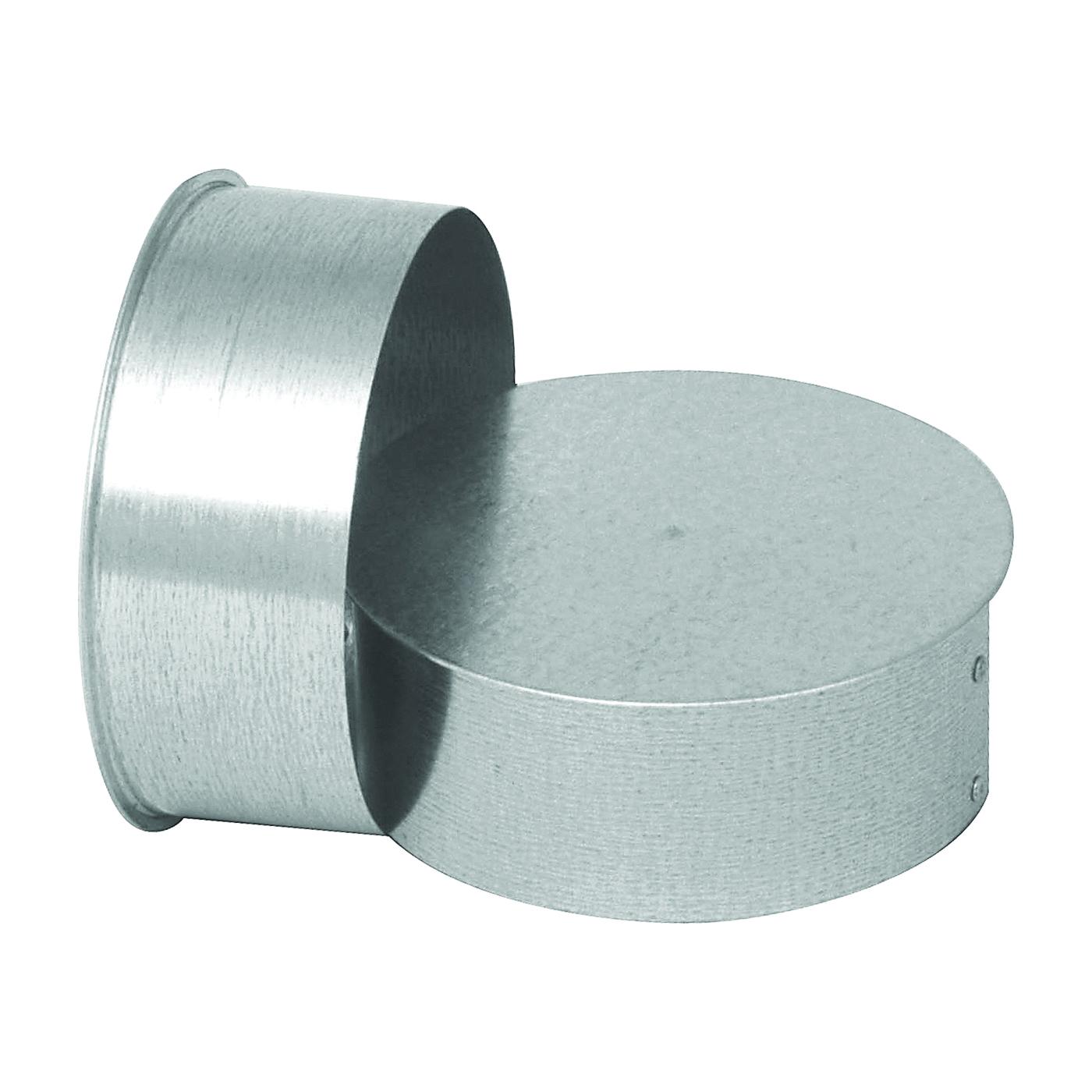 Picture of Imperial GV0726 Round End Cap, 8 in Dia, Galvanized Steel, Galvanized