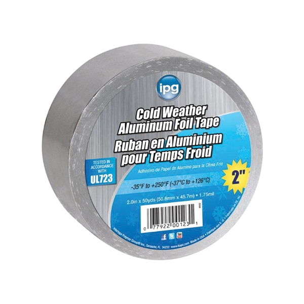 Picture of IPG 9502 Foil Tape with Liner, 45.7 m L, 50.9 mm W, Aluminum Backing, Silver