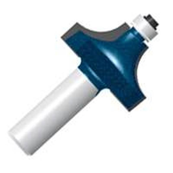 Picture of Bosch 85494MC Router Bit, 1 in Dia Cutter, 2 in OAL, 1/4 in Dia Shank, 1 -Cutter, Steel
