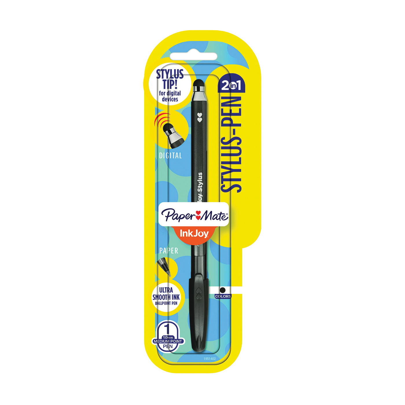 Picture of Sanford 1951402 Stylus/Ball Point Pen, 1 mm Tip, Conductive Stylus Tip, Black Ink