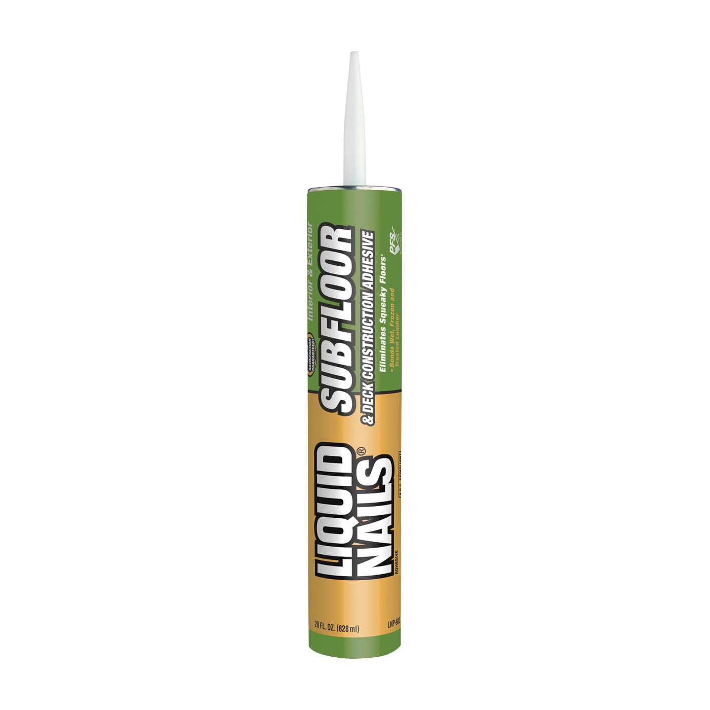 Picture of Liquid Nails LNP-902 Construction Adhesive, White, 28 oz Package, Cartridge