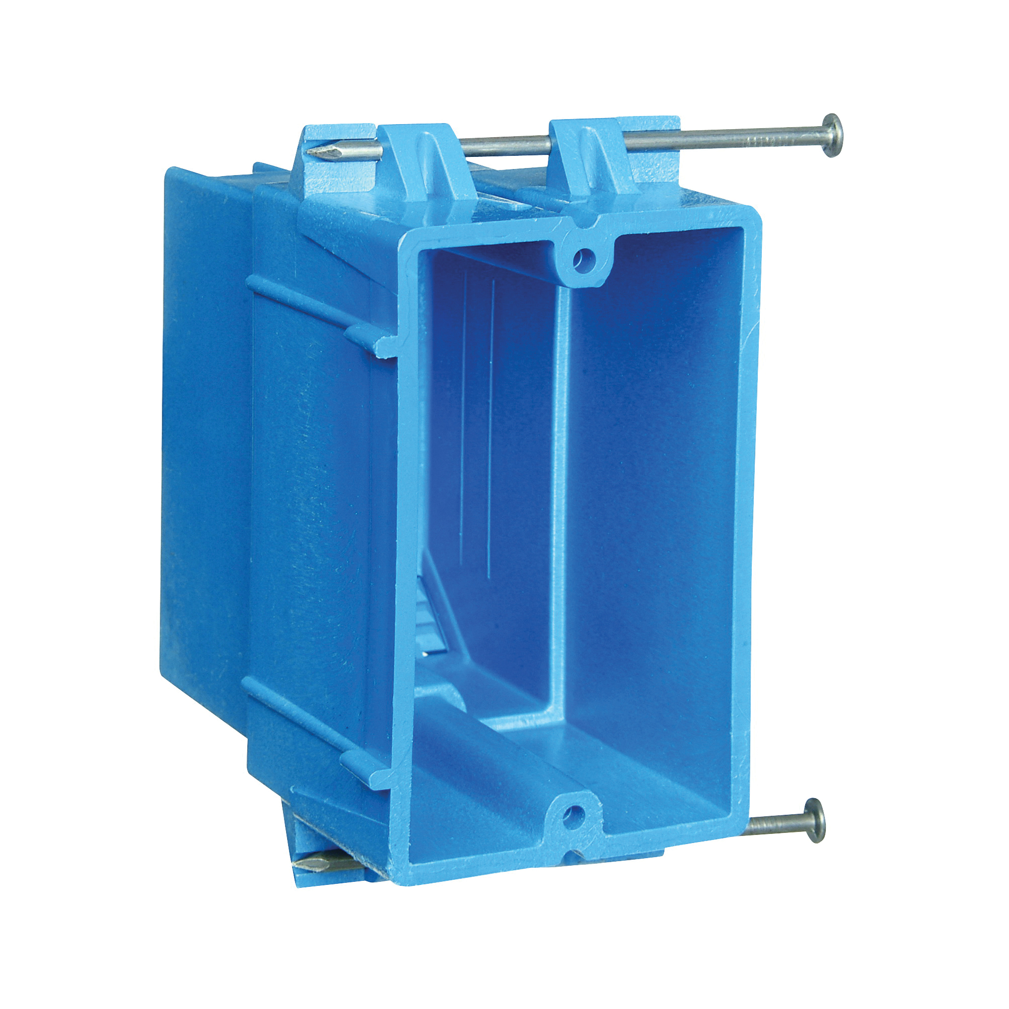 Picture of Carlon BH122A-UPC Outlet Box, 1-Gang, PVC, Blue, Nail Mounting