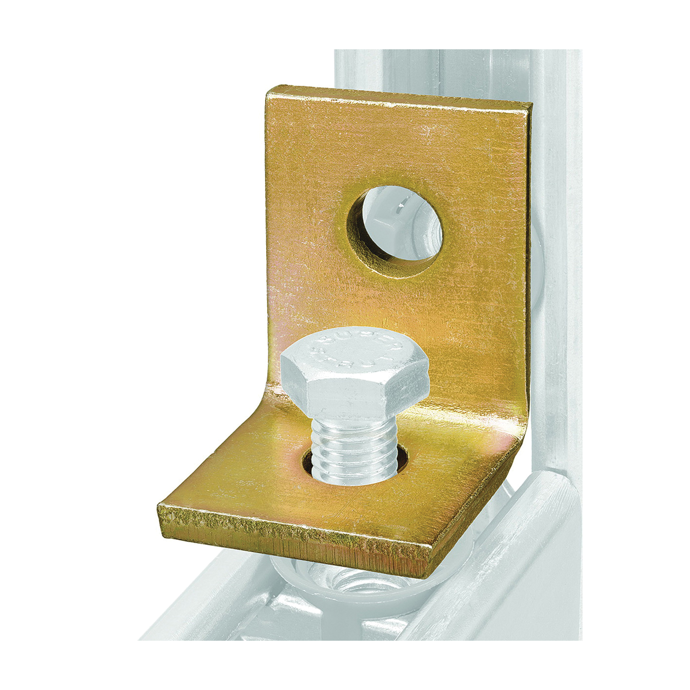 Picture of SuperStrut 200 Series ZAB201-10 Angle Bracket Fitting, Steel, Gold, Galvanized