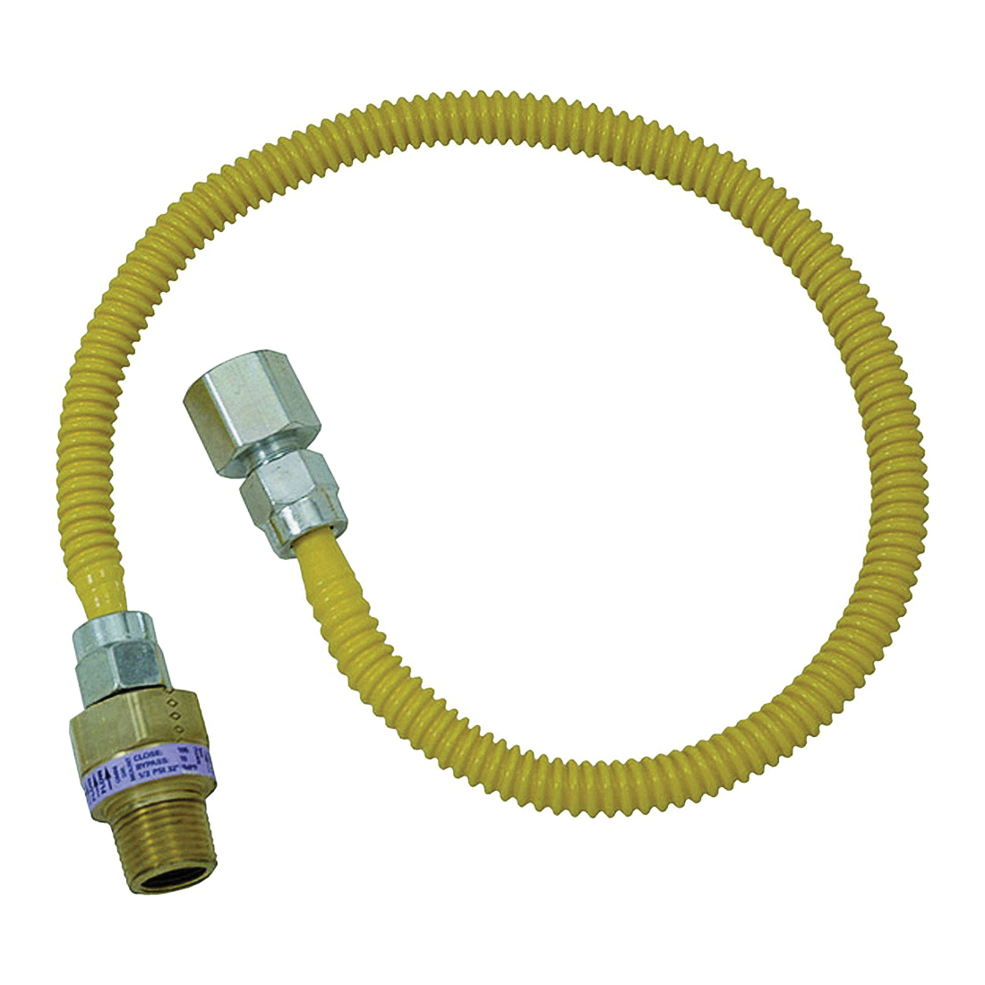 Picture of BrassCraft ProCoat CSSL54-48 Gas Connector, 1/2 in Inlet, 1/2 in Outlet, 48 in L