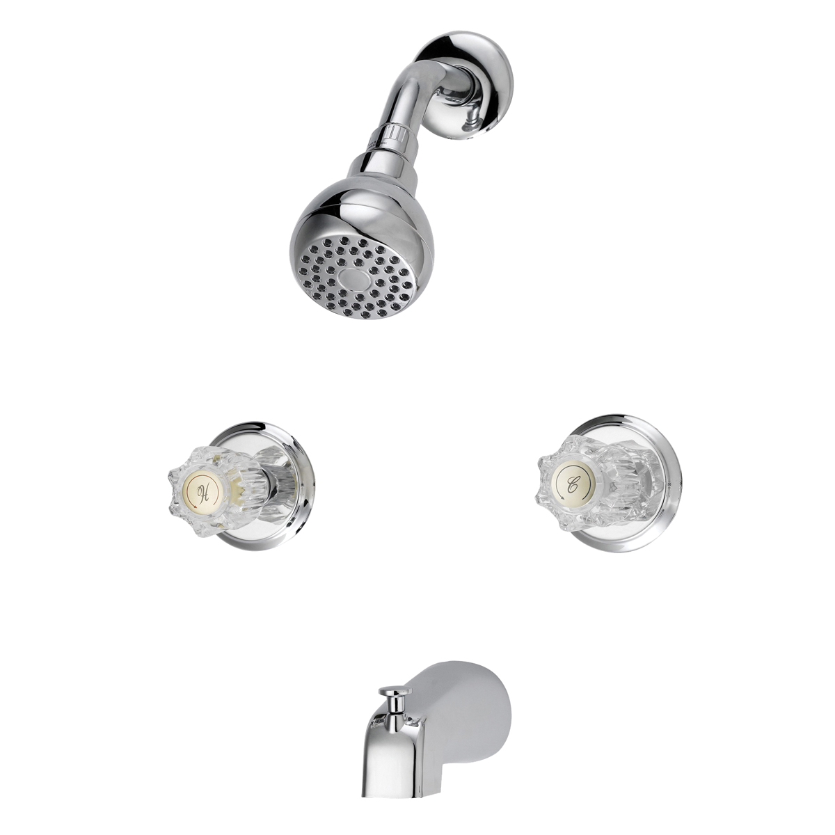 Picture of Boston Harbor GU-TQOB016CP Tub and Shower Faucet, Fixed Mount Showerhead, 1.75 gpm Showerhead, 1 Spray Settings