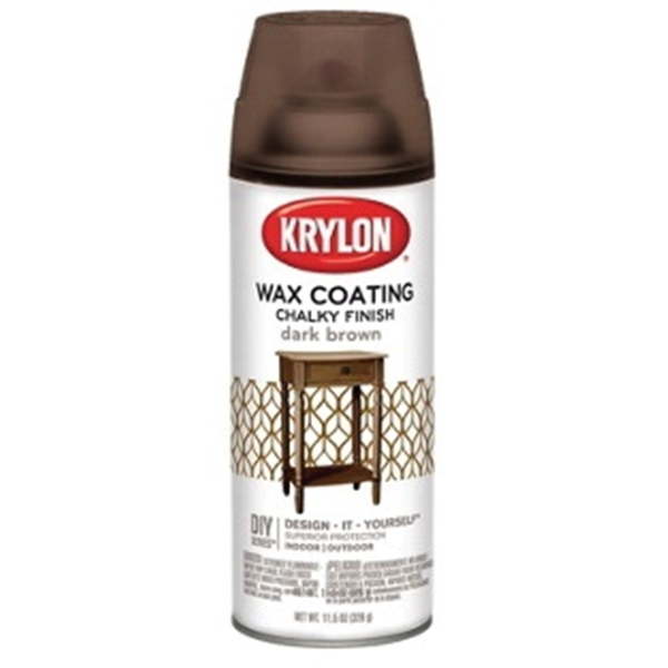 Picture of Krylon K04119000 Chalky Paint, Subtle, Dark Brown, 11.75 oz, Aerosol Can
