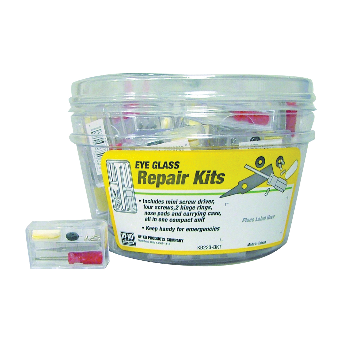 Picture of HY-KO KB223-BKT Eyeglass Repair Kit, Plastic
