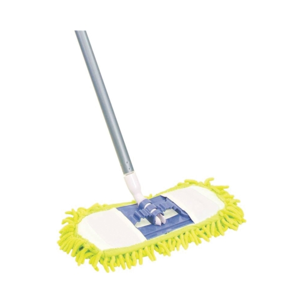 Picture of Quickie 060TRIRM-18 Dust Mop, Chenille/Microfiber Head, Steel Handle, Green