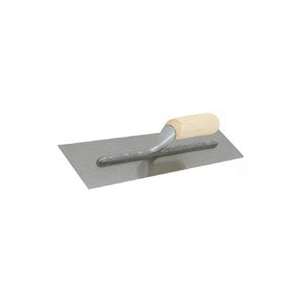 Picture of Marshalltown Nu-Pride 990S Finishing Trowel, 11 in L Blade, 4-1/2 in W Blade, Steel Blade, Curved Handle