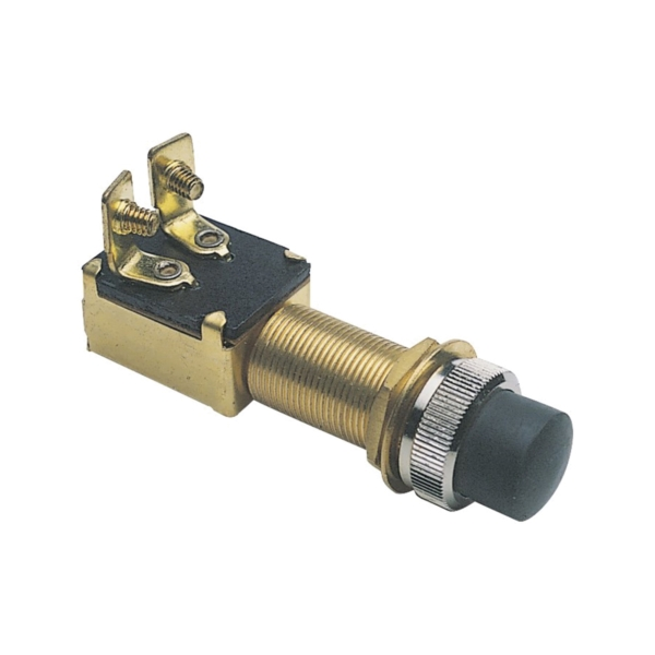 Picture of CALTERM 45110 Starter Switch, 15 A, 12 VDC, SPST, Screw Terminal, Brass Housing Material, Black/Brown