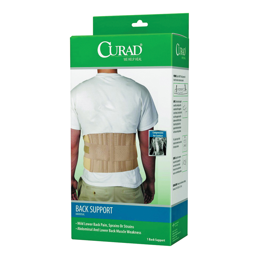 Picture of CURAD ORT22000D Back Support, One-Size, Fits to Waist Size: 33 to 48 in, Hook-and-Loop Closure