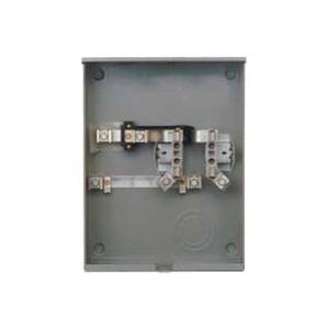 Picture of Siemens UAS877-PG Meter Socket, 1-Phase, 200 A, 600 V, 4-Jaw, Underground Feed Cable Entry, NEMA 3R Enclosure