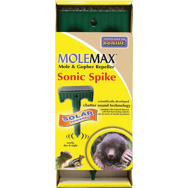 Picture of MoleMax 61121 Sonic Stake Repeller, Solar-Powered, 4-3/4 in L
