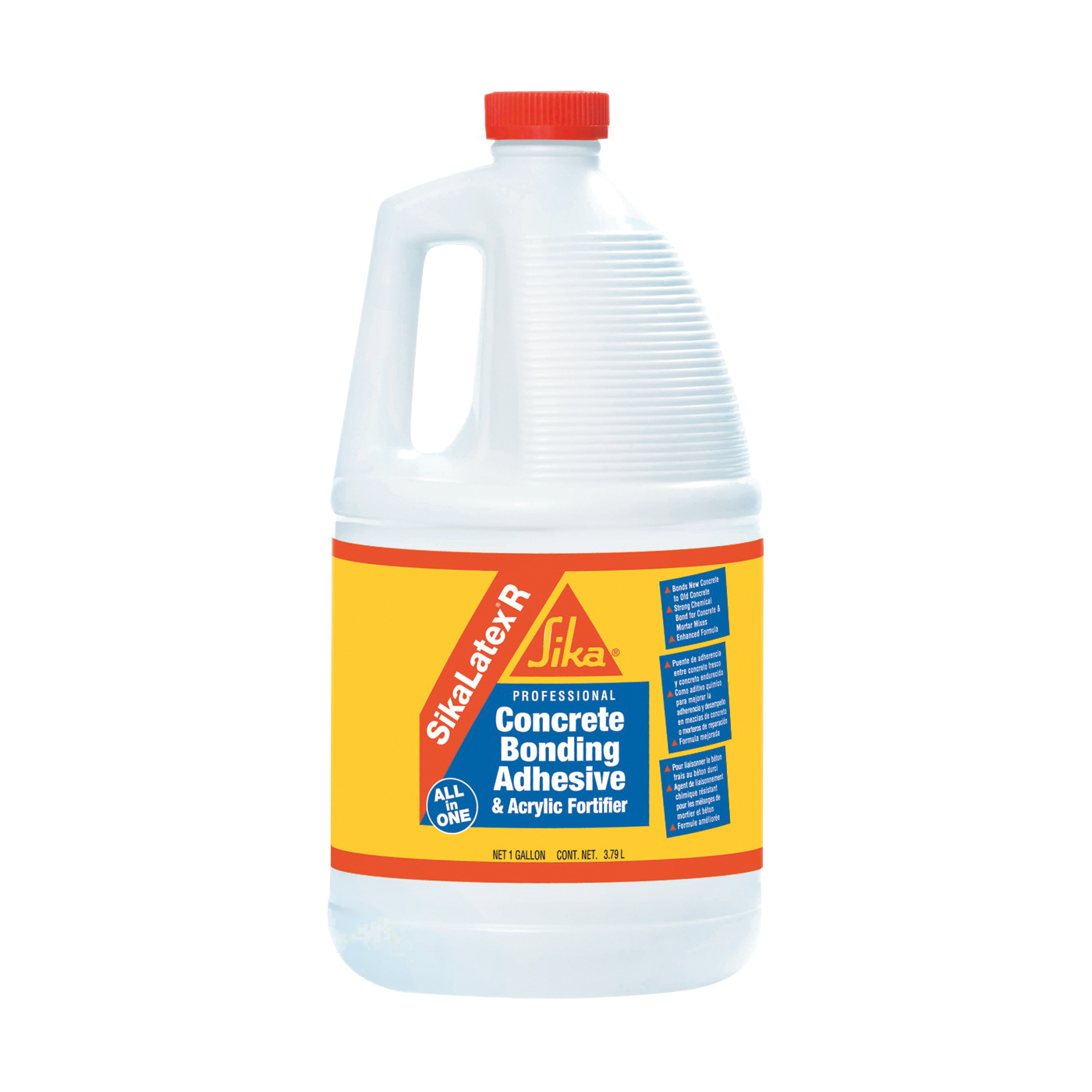 Picture of SikaLatex R 187782 Bonding Additive, Liquid, Milky White, 1 gal Package, Jug