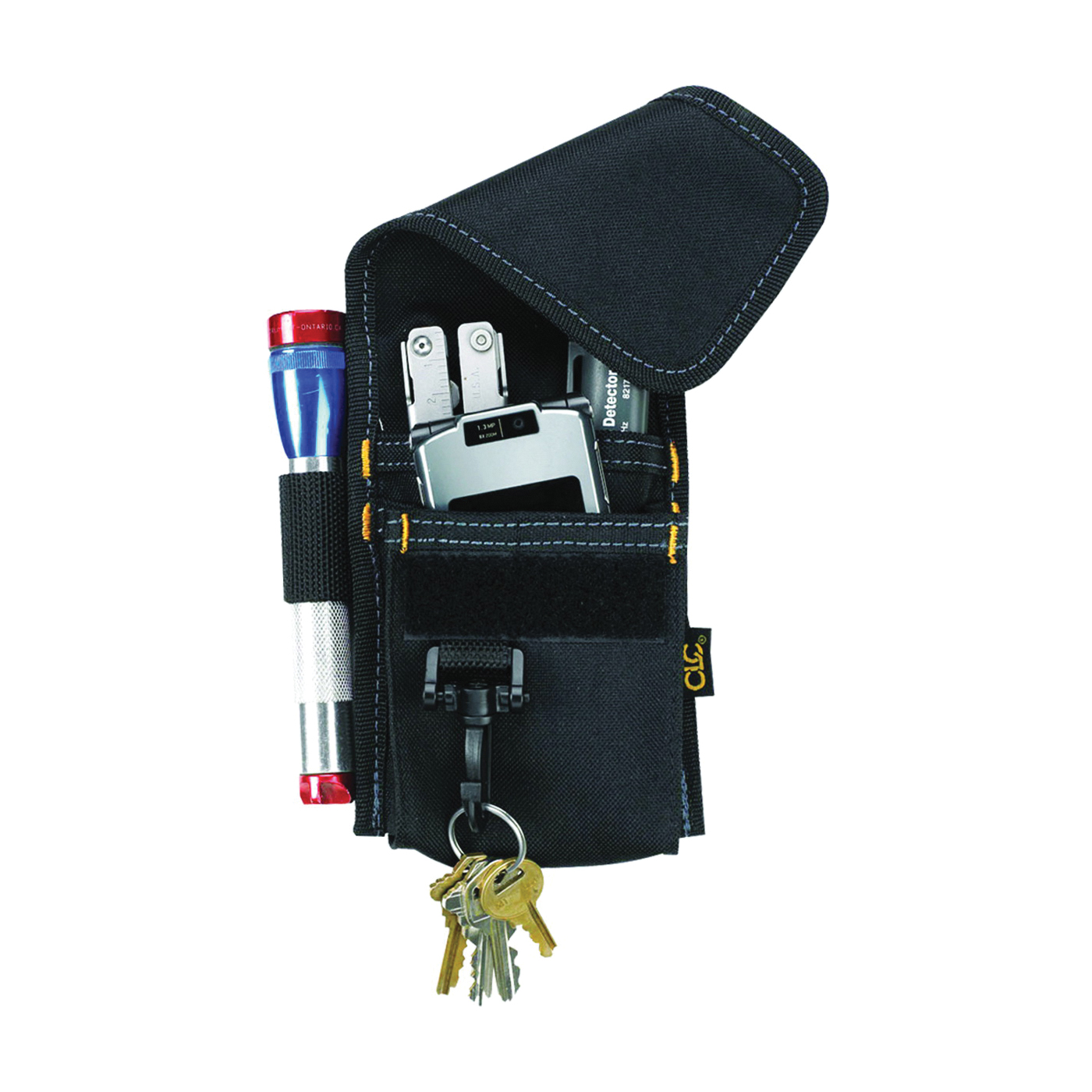 Picture of CLC Tool Works 1104 Multi-Purpose Tool Holder, 4 -Pocket, Polyester, Black, 3 in W, 7-1/4 in H, 1 in D