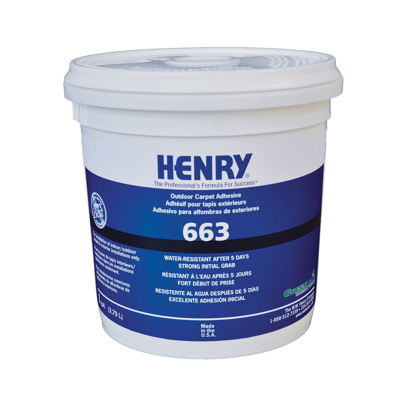 Picture of HENRY 12185 Carpet Adhesive, Beige, 1 gal Package, Container