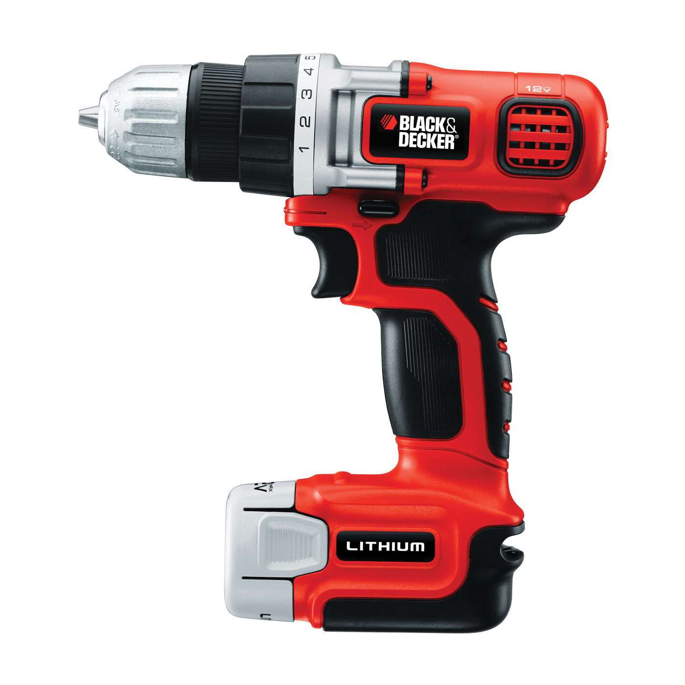 Picture of Black+Decker BDCDD12C/LDX112C Drill/Driver, Kit, 12 V Battery, 3/8 in Chuck, Keyless Chuck, Battery Included: Yes