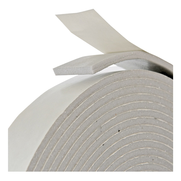 Picture of Frost King V447H Foam Tape, 1-1/4 in W, 30 ft L, 3/16 in Thick, PVC, Gray