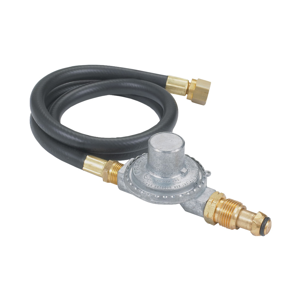 Picture of Bayou Classic M5LPH/5LPH Hose Regulator, 3/8 in Connection, 36 in L Hose, For: Gas Grills