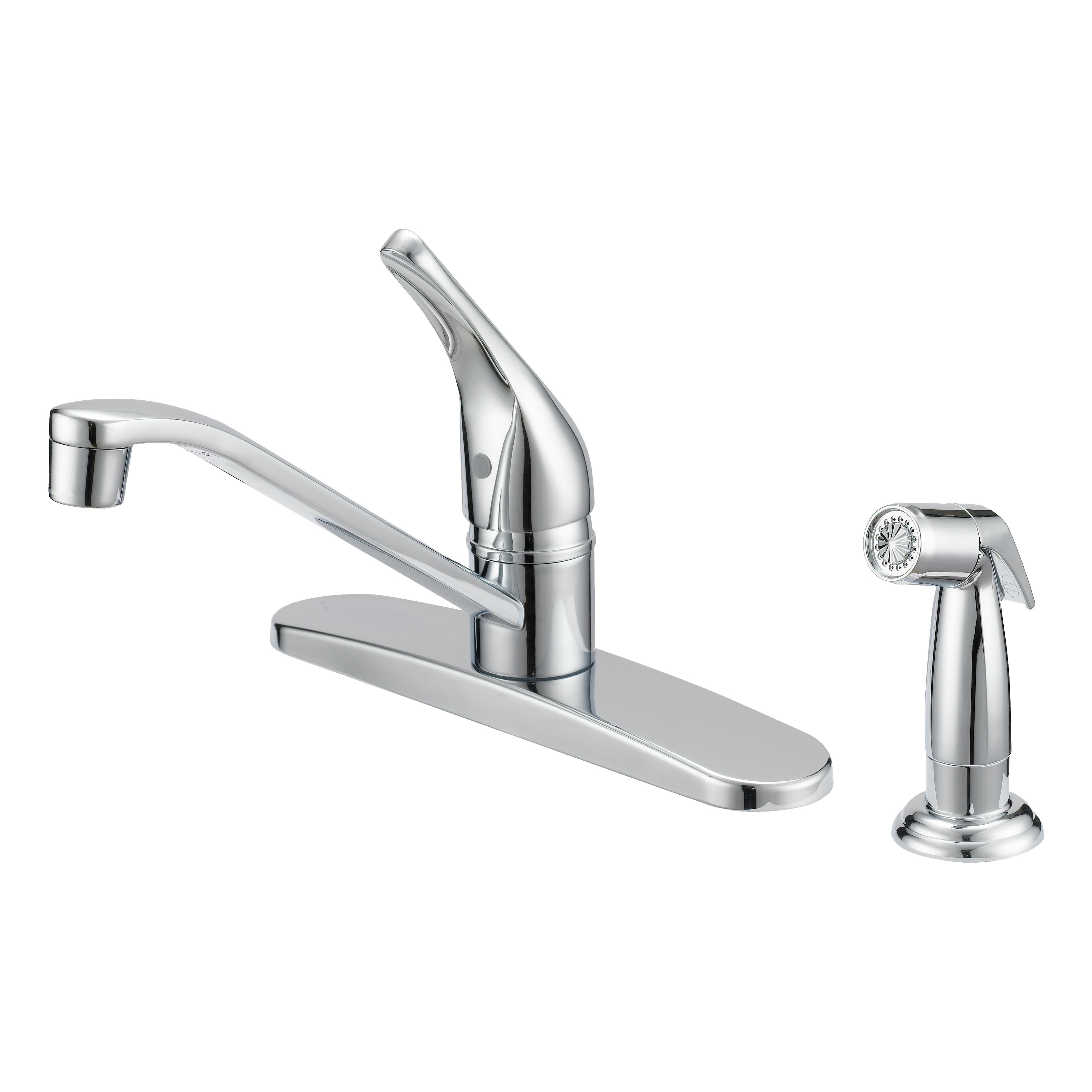 Picture of Boston Harbor FS610046CP Kitchen Faucet, 1.8 gpm, 1-Faucet Handle, Metal, Chrome, Lever Handle