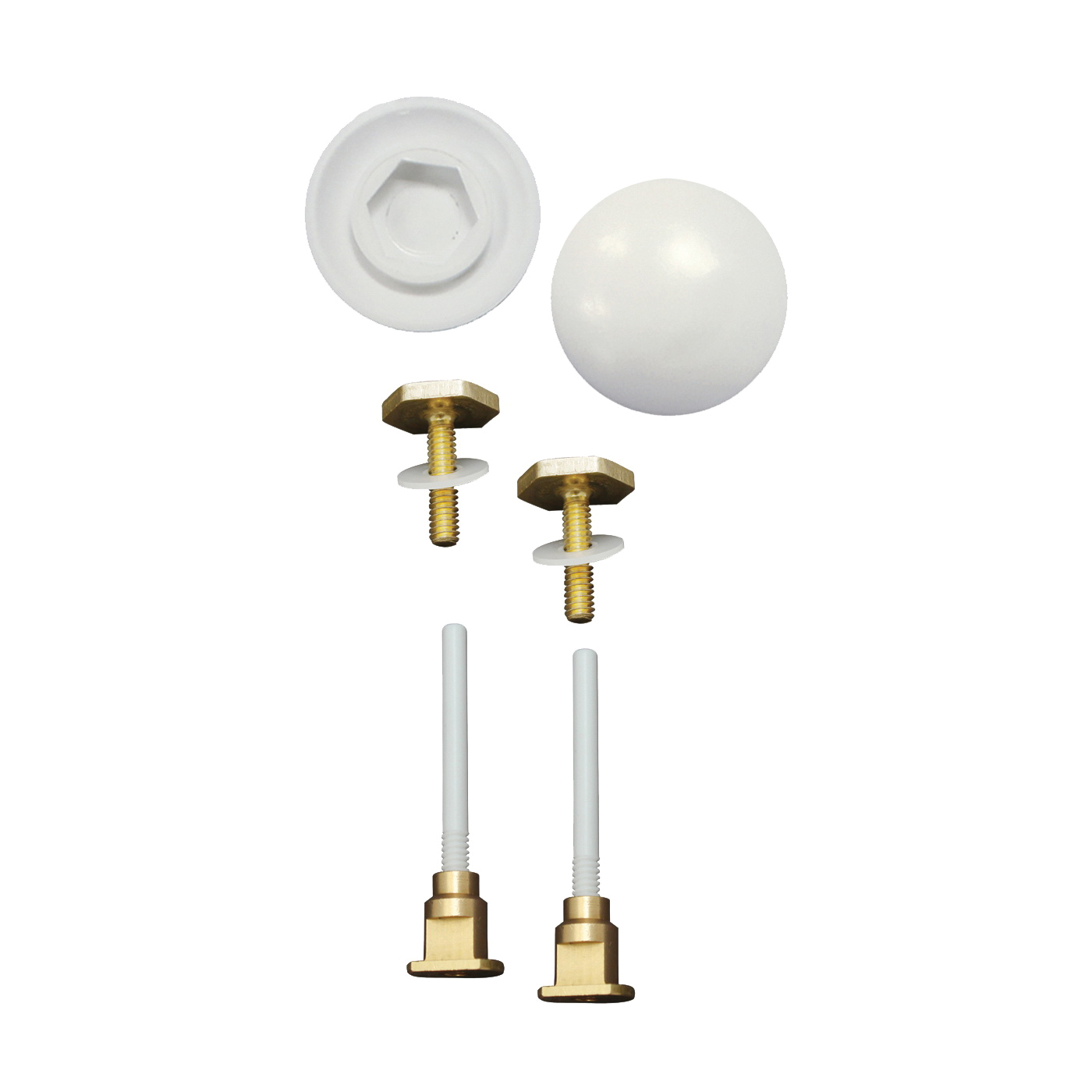 Picture of Keeney K835-171 EZ Install Cap and Bolt Set, White, Carded