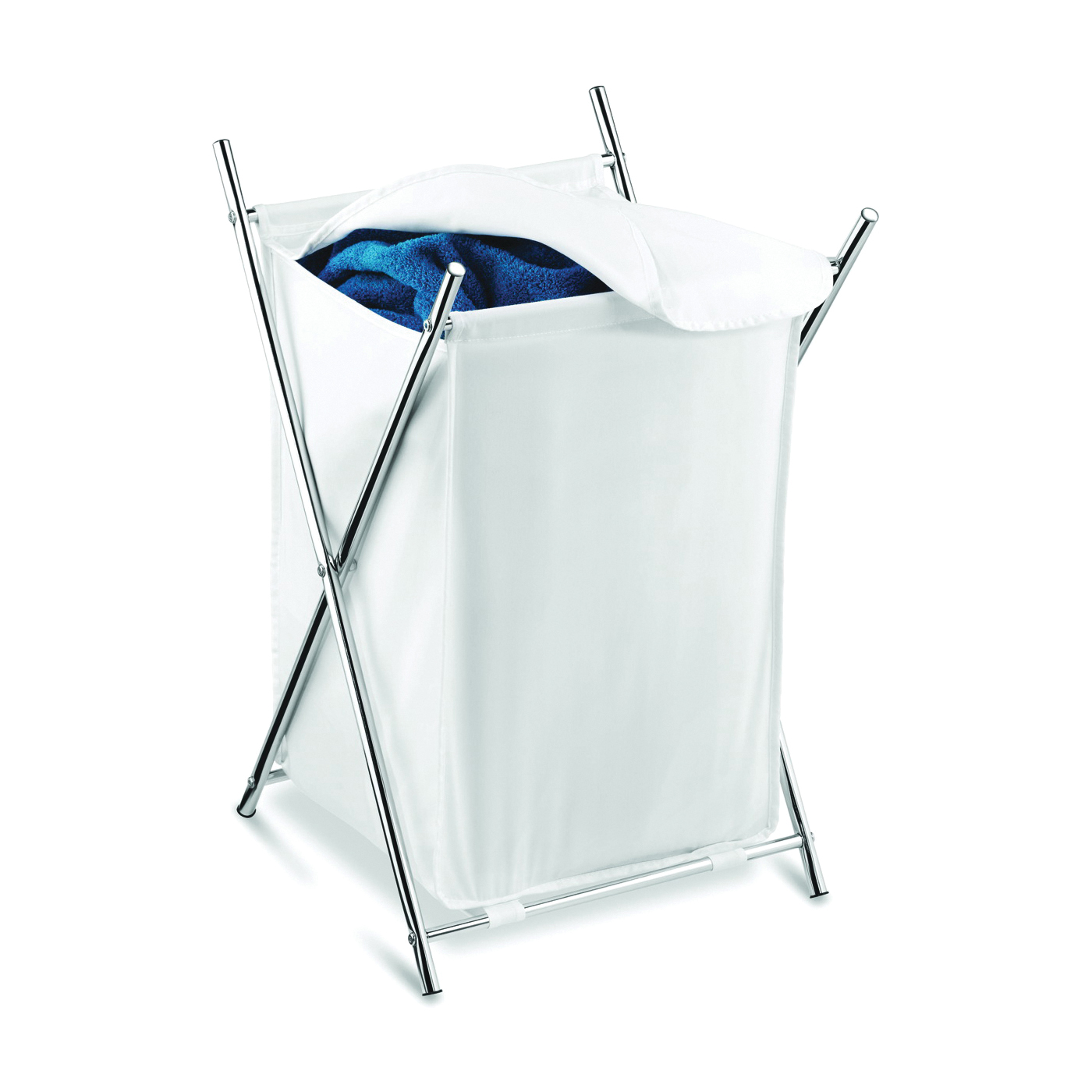 Picture of Honey-Can-Do HMP-01126 Folding Hamper, Polycotton Bag, 28 in W, 28 in H, 14-3/8 in D