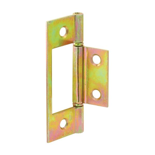 Picture of Prime-Line N 6656 Door Hinge, 1 in W Frame Leaf, 3 in H Frame Leaf, Steel, Brass