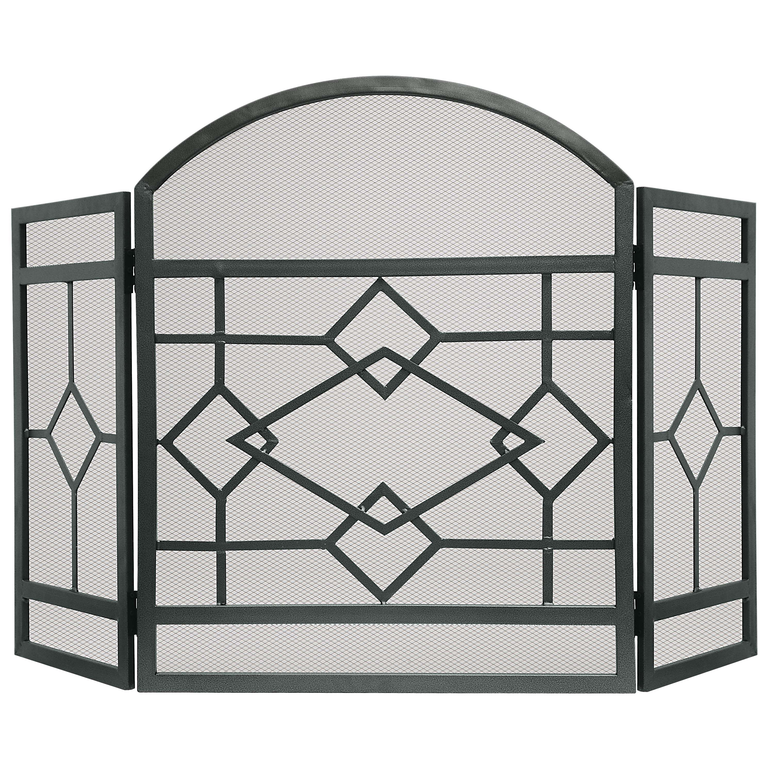 Picture of Simple Spaces CPO61153NN Fireplace Screen, 51-1/2 in W, 32 in H, Steel