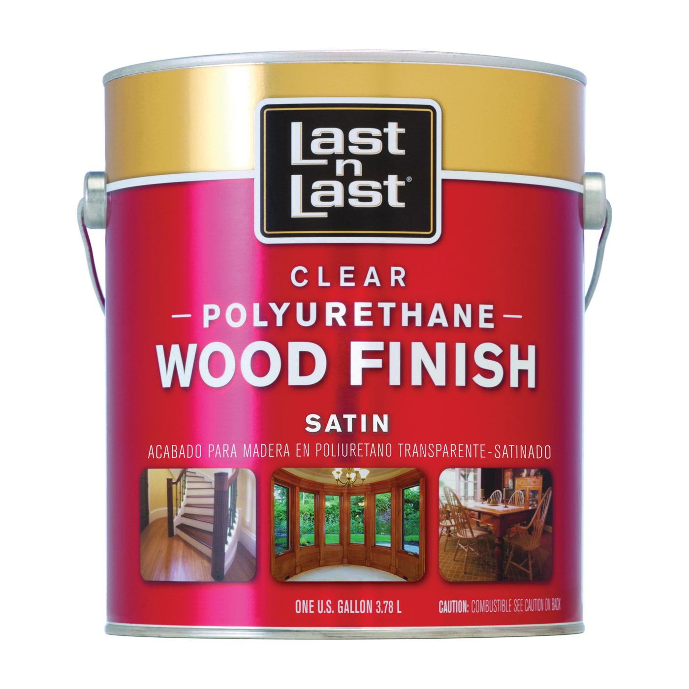 Picture of Last n Last 53511 Polyurethane Wood Finish, Liquid, Clear, 1 gal, Can