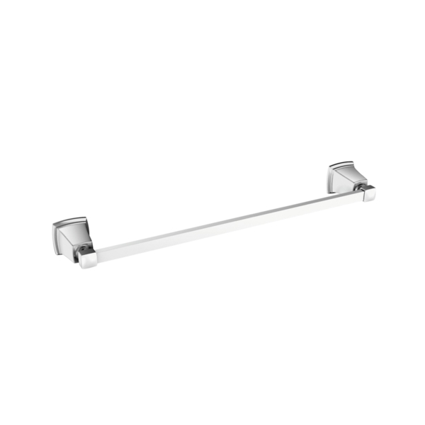 Picture of Moen Y3218CH Towel Bar, 18 in L Rod, Aluminum, Chrome, Surface Mounting