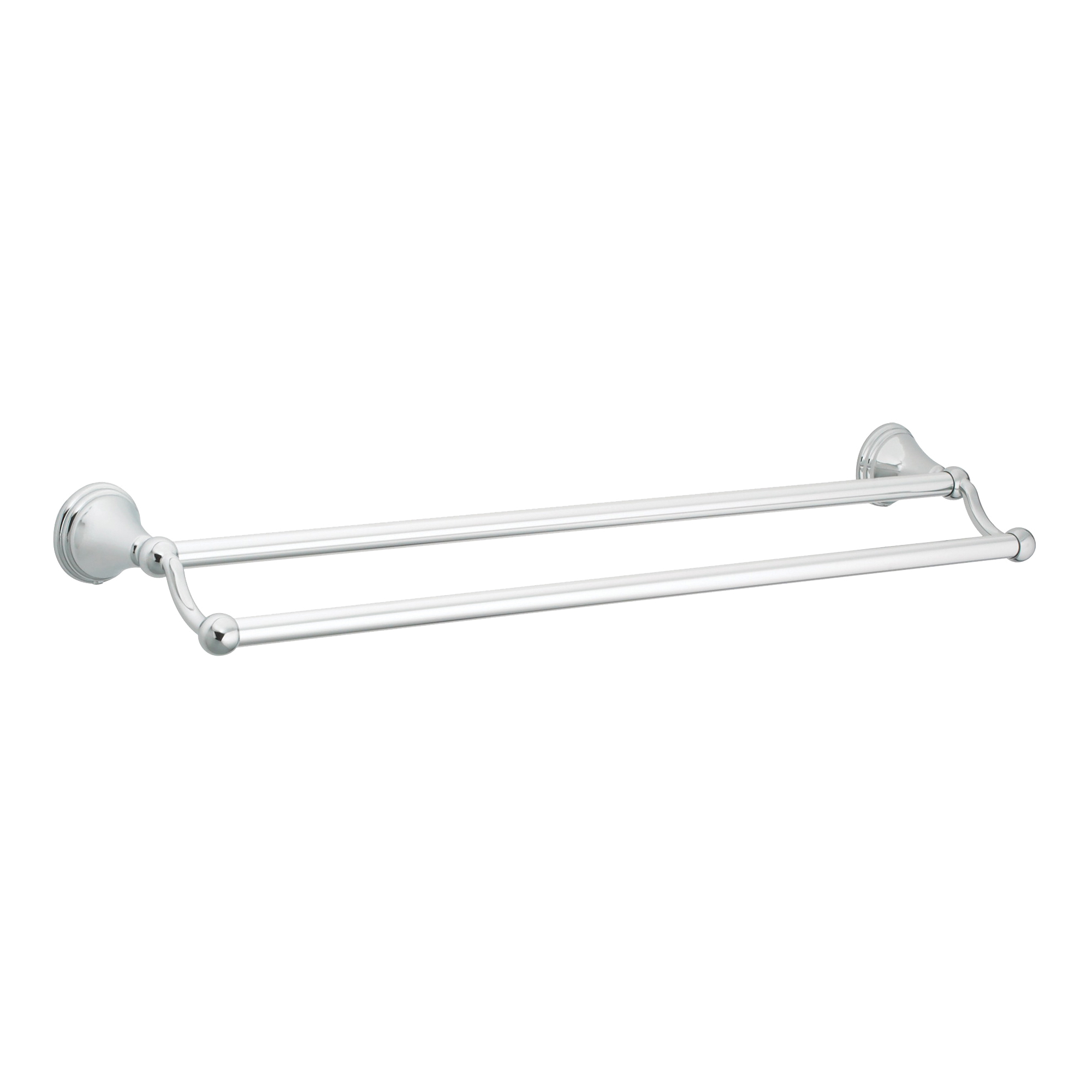 Picture of Moen DN8422CH Towel Bar, 24 in L Rod, Aluminum, Chrome, Surface Mounting
