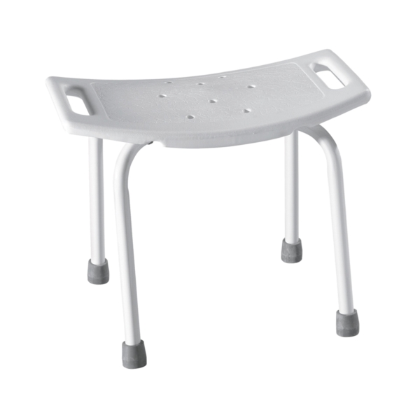 Picture of Moen DN7035 Shower Seat, 250 lb, Plastic Seat, Glacier White Seat, Aluminum Frame, 20 in W, 12 in D