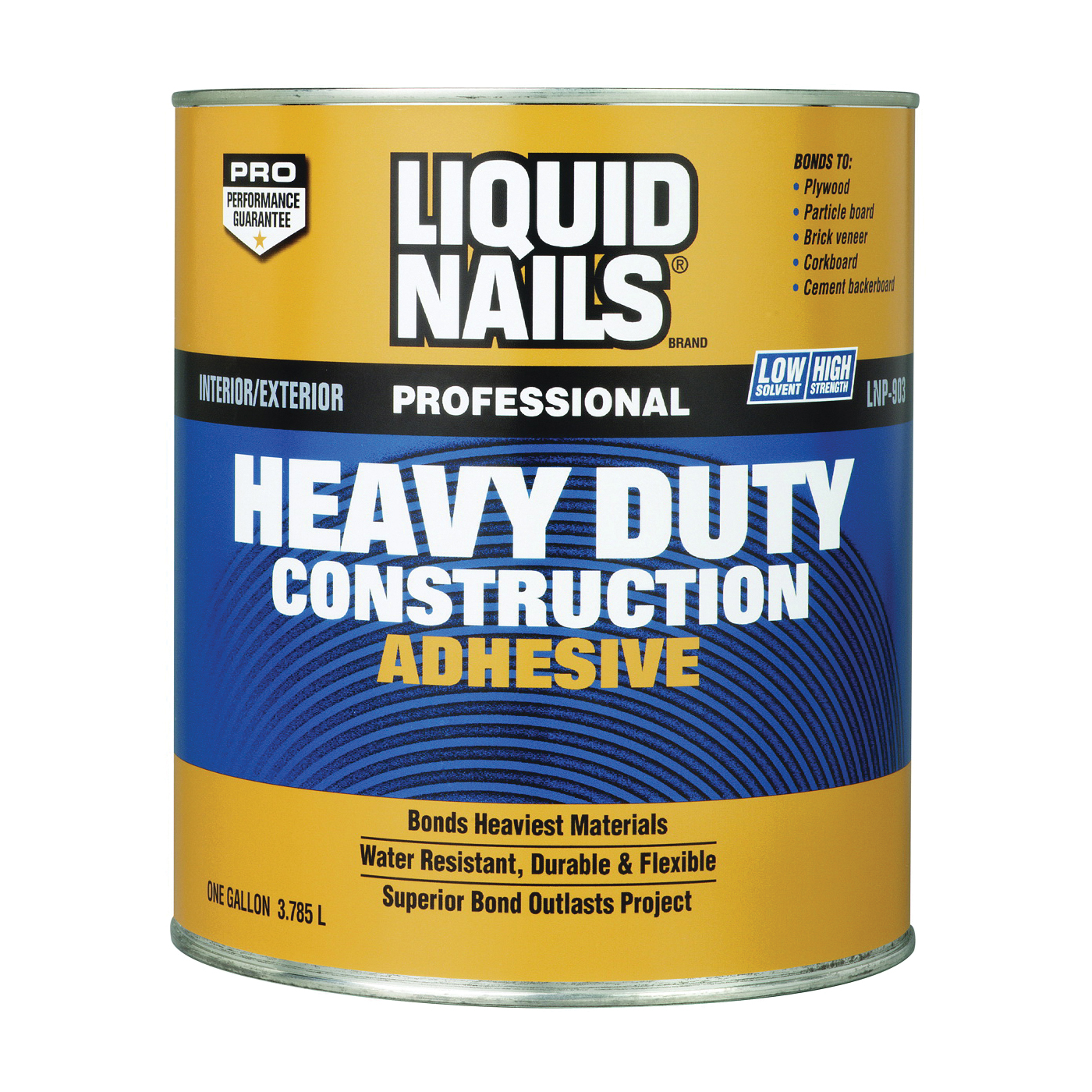 Picture of Liquid Nails LN-903-1GAL LN-903 Construction Adhesive, Tan, 1 gal Package, Can