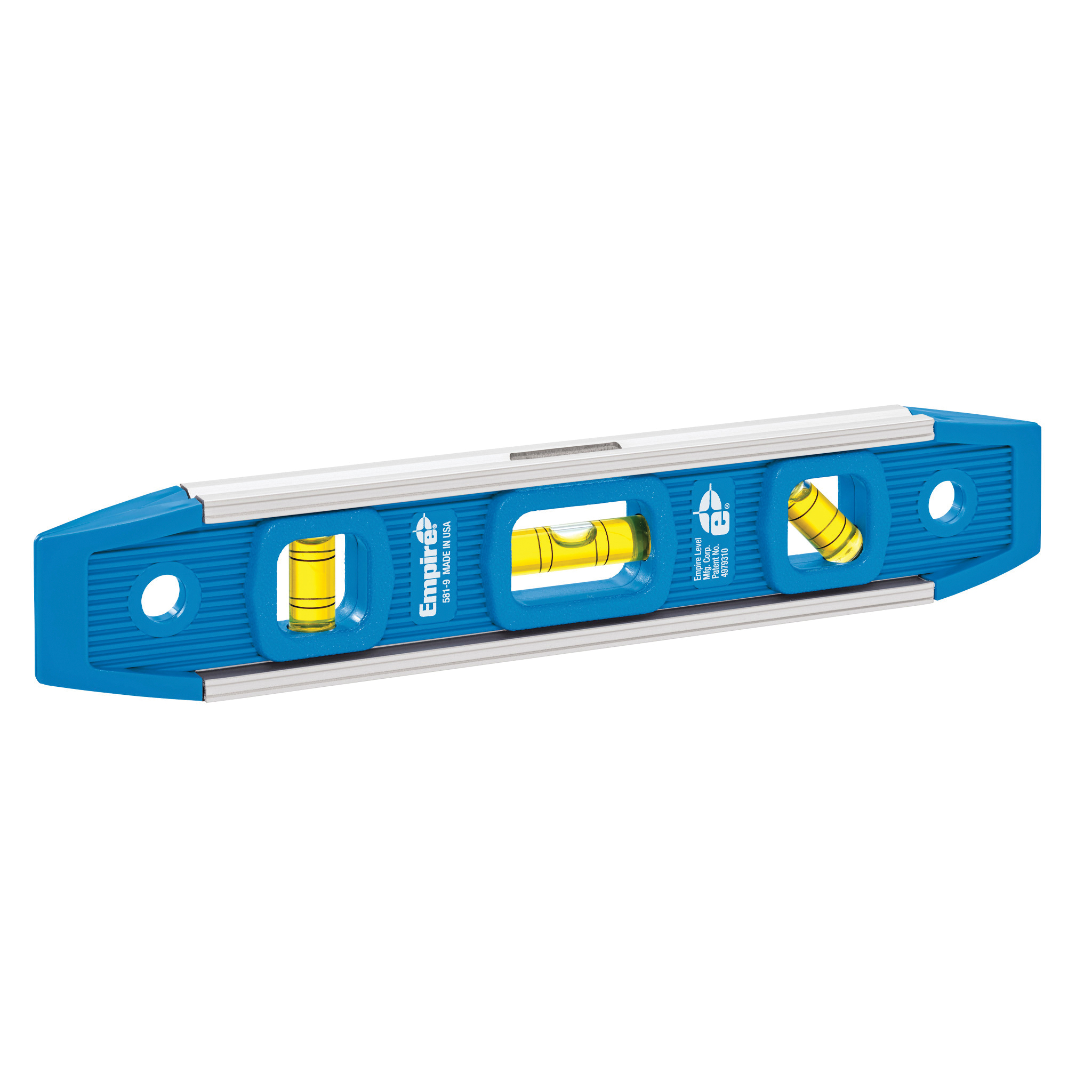 Picture of Empire 581-9 Magnetic Torpedo Level, 9 in L, 3 -Vial, Magnetic, Aluminum, Blue