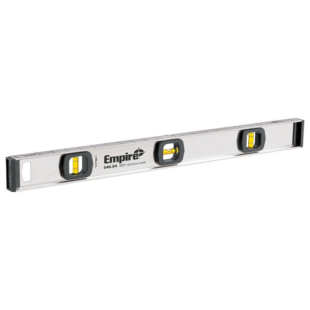 Picture of Empire 540-48 I-Beam Level, 48 in L, 3 -Vial, Non-Magnetic, Aluminum, Silver