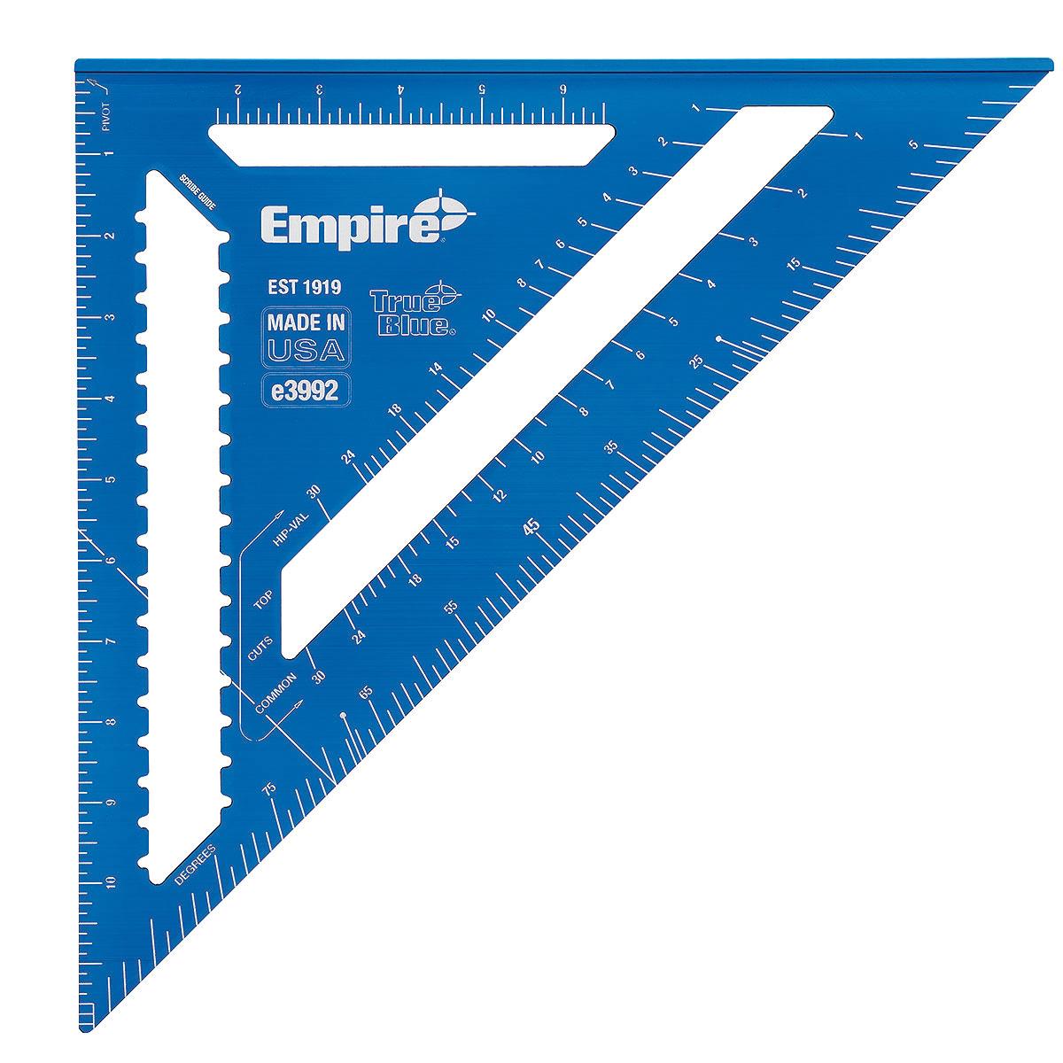 Picture of Empire E3992 Rafter Square, 0.13 in Graduation, Aluminum, 12 in L, 11.9 in W
