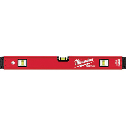 Picture of Milwaukee MLBX24 REDSTICK Box Level, 24 in L, 3 -Vial, Non-Magnetic, Aluminum, Red