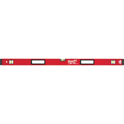 Picture of Milwaukee MLBX48 REDSTICK Box Level, 48 in L, 3 -Vial, Non-Magnetic, Aluminum, Red