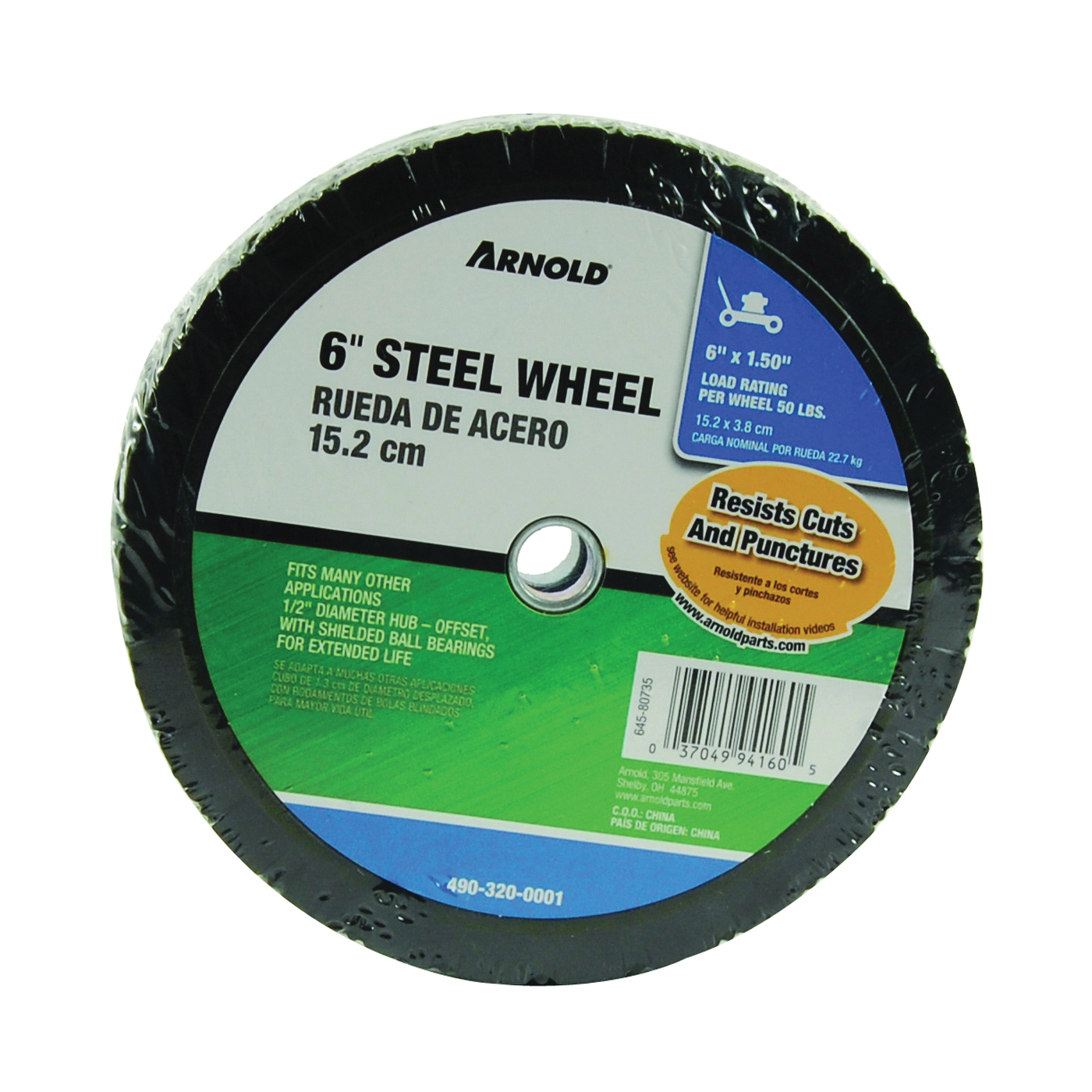 Picture of ARNOLD 490-320-0001 Tread Wheel, Steel