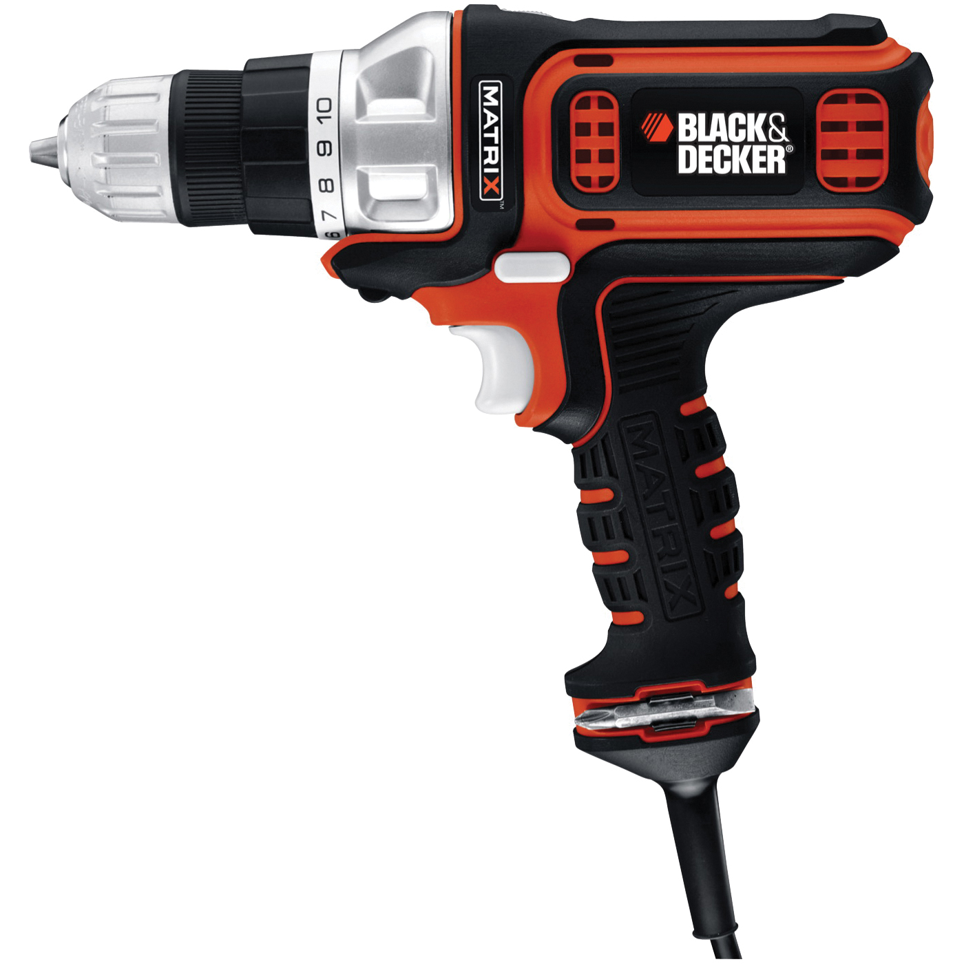 Picture of Black+Decker BDEDMT Electric Drill, 3/8 in Chuck, Keyless Chuck