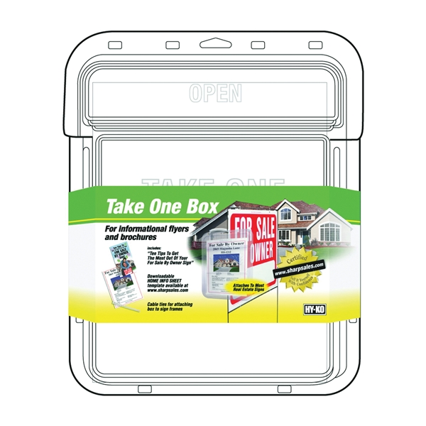 Picture of HY-KO 22131 Take One Flyer Box, Single-Sided, Plastic, Clear