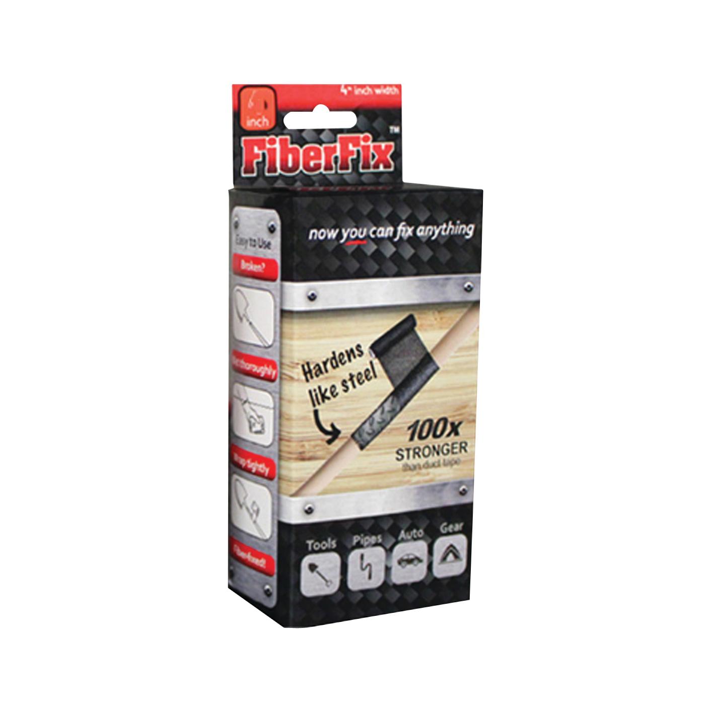 Picture of FiberFix Repair Wrap 4006 Pipe Repair Wrap, 40 in L, 1 in Thick, Fiber/Resin, Black