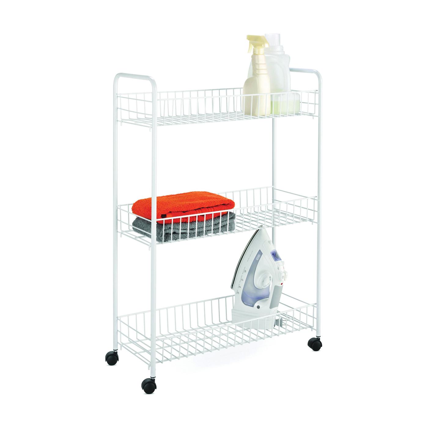 Picture of Honey-Can-Do CRT-01149 Storage Cart, 23 in OAL, 8 in OAW, 31 in OAH, 3-Shelf, Steel