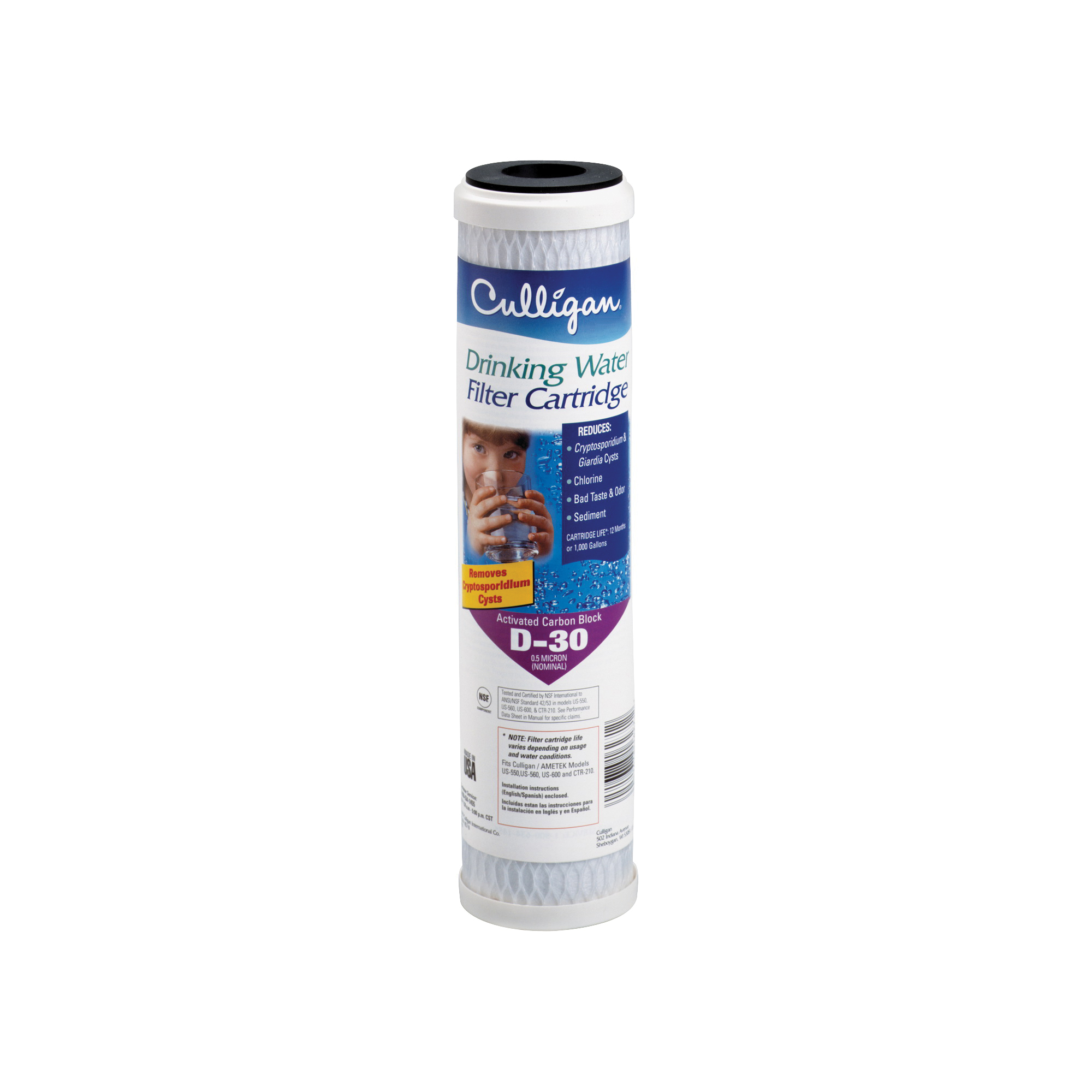Picture of Culligan D-30A Replacement Drinking Water Filter, 0.5 um Filter